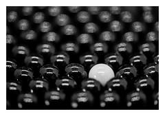 FILM - Mostly black (fishyfish_arcade) Tags: marbles sigma105mmf28oshsmmacro nikonf80 ilford hp5 blackwhite blackandwhite bw mono monochrome macro analogphotography filmisnotdead istillshootfilm