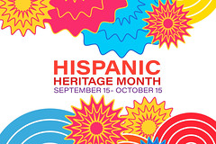 Hispanic Heritage Month September 15 - October 15. Background, poster, greeting card, banner design. Vector EPS 10 (JoTo PR) Tags: hispanic heritage month national celebration colorful culture latin 15 15th america american art artists banner beginning celebrates contributions countries cuba education flyer guatemala latino mexico october postcard poster puertorico september sign spain venezuela red orange design illustration carnival city costume day festival fun holiday marching mexican new parade people spectators russianfederation