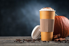 Pumpkin spice latte in a paper cup (JoTo PR) Tags: pumpkin spice latte coffee cream whipped autumn food beverage cocktail healthy fresh drink winter wooden halloween glass cinnamon tasty background rustic refreshment delicious dark hot holiday orange thanksgiving sweet ingredient fall paper cup disposable take out takeout carton bean wood old lowkey stick steam season seasonal poland