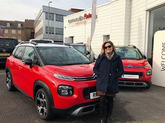 Here is Justine Hall collecting her C3 Aircross with delivery mileage! We collected her broken down vehicle and turned this one around for her in just a few days helping her get back on the road! Thank you for choosing Charters Citroen, we wish you many h (Charters Citroen) Tags: citroen aldershot hampshire fleet surrey
