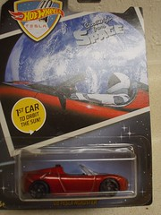 2008 Tesla Roadster (lincoln6267) Tags: mattel hot wheels 2008 tesla roadster red 1st car orbit sun first greetings from space convertible die cast diecast
