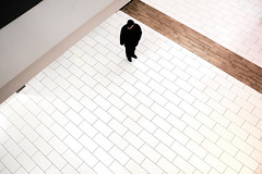 Alone (dorjazz) Tags: white loneliness supermarket lensculture minimal streetphotography