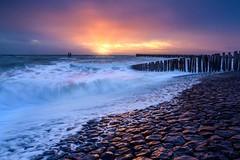 Stormy Sunset (Ellen van den Doel) Tags: storm nature nederland netherlands 2020 sea ciara outdoor natuur zeeland februari landschap zee landscape wind