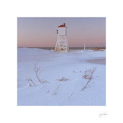 Fog Horn (jrobfoto.com) Tags: winter landscape sand bealpha sunset lighthouse snow beach water michigan sony shore alpha foghorn twitter tumblr coast unitedstatesofamerica ludington bigsable a7riv