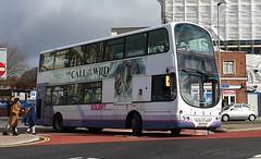 First Hampshire and Dorset 37162 (HY07 FSV) Portsmouth 17/2/20 (jmupton2000) Tags: hy07fsv volvo b7tl wright eclipse gemini first uk bus solent hampshire dorset
