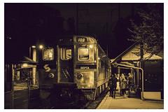 The 108 - Chestnut Hill West Line - Philadelphia, PA - USA_Web 1_Scaled (johann.kisaame) Tags: light luminance mtairy night nightphotography pennsylvania people philadelphia philadelphiasuburbs shadows trains metal streetphotography
