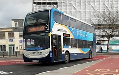 Stagecoach South 10009 (GX12 DXR) Portsmouth 17/2/20 (jmupton2000) Tags: gx12dxr alexander dennis enviro 400 trident stagecoach south uk bus southdown coastline coastliner 700