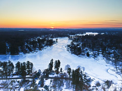 Snowy Salem Sunrise (Phiery Phoenix Photography) Tags: phiery phoenix phieryphoenix phieryphoenixphotography photography djispark dji spark drone drones uas suas small unmanned aerial aircraft system air airspace sky sunrise sun rise morning golden hour snow snoy ice frozen pond salem nh new newhampshire hampshire trees tree newengland england altitude