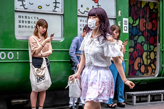 Tokyo 2019 (burnt dirt) Tags: shibuya tokyo japan asia japanese asian candid documentary street photography downtown metro urban city scramble crossing outdoor people person fujifilm xt3 fujinon 50mm f2 woman girl smile laugh train station style fashion life real crowd tourist emotion expression portrait close nippon face mask