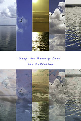 Keep the Beauty Lose the Pollution 2 (soniaadammurray - On & Off) Tags: digitalart art myart visualart abstractart experimentalart contemporaryart diptych text nature beauty look appreciate keep lose pollution sky sea land clouds birds water sun sunset shadows reflections artchallenge flag positivity positiveflagsofthenations picmonkey photoshop savetheplanet contamination environmental crisis speak act workingtowardsabetterworld globalwarming climatechange