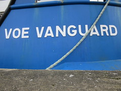 Voe Vanguard IMO: 9809693 (LookaroundAnne) Tags: name lettering text ship vessel blue rope multicat southquay greatyarmouth yarmouth norfolk