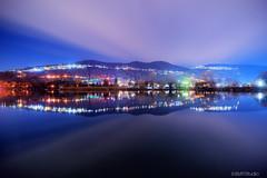 Lake reflections (BMTTStudio) Tags: lake reflections nightscape switzerland nightsky mountains longexposure landscape waterreflections clouds nightlights