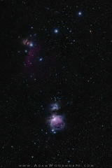 Orion's Belt and Nebulae (Adam Woodworth) Tags: astrophotography beltoforion deepspace deepspaceastrophotography flamenebula horseheadnebula ldn1630 m42 m43 nebula ngc2023 ngc2024 night orionnebula orionsbelt runningmannebula sky space startracker stars