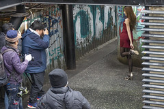 Photographers taking pictures of a model at Taipei Cinema Park, Ximending (longzijun) Tags: taipei taiwan longzijun artjouer