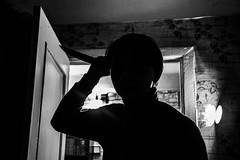 psycho (vinger22) Tags: man blackandwhite psycho canon600d gray light oneperson photo shot