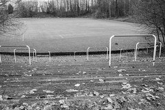 Cathkin Park (the original Hampden Park) (johnawatson) Tags: glasgow scotland football ef35mmf2isusm canoneos5dmarkiv abandoned stadium blackandwhite monochrome