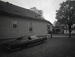 Explore Detroit (IV2K) Tags: mamiya mamiya7 mamiya7ii mediumformat kodaktrix kodakfilm kodak film trix400 d76 kodakd76 blackandwhite bw detroit expolredetroit detroitmichigan michigan ishootfilm istillshootfilm abandoned abandonedcar nothingstopsdetroit