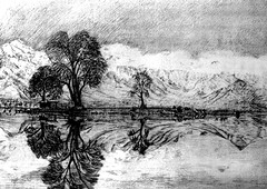 TM: Dal Lake (alixlee.com (Ali Speakman)) Tags: india kashmir ink lake placid
