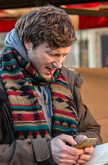 I'll have to use the calculator (Patricia Wilden) Tags: cambridge eos70d street uk urbanstreet photo people candid