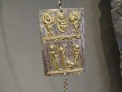 Getty Villa7796 (Akieboy) Tags: gettyvilla getty villa museum losangeles california byzantine silver gilding gilt gold dove plaque votive