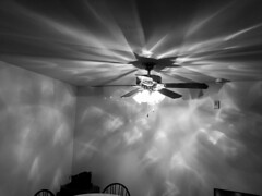 Ceiling Fan (BenG94) Tags: ceilingfan lights blackandwhitephotography blackandwhite iphone indoors