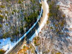 Road of Dreams (Phiery Phoenix Photography) Tags: phiery phoenix phieryphoenix phieryphoenixphotography photography djispark dji spark uas suas small unmanned aerial aircraft system drone drones sky air airspace salem new newhampshire hampshire newengland england nh field dreams town hall fieldofdreams road highway street car cars tree trees snow snowy ice winter wintertime golden yellow park altitude