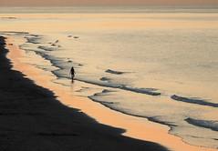 Breathe. (pdajsmith) Tags: beach coast uk girl sunset surf calm lonefigure
