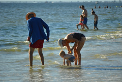 Experiencing it through his eyes (radargeek) Tags: florida fl 2018 october fortmyers fortmyersbeach beach baby family