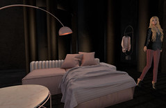 A sound that doesn't belong (Teddi Beres) Tags: second life sl virtual screenshot blonde bed danger
