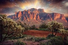 Superstition Mountains, Apache Junction, AZ (JoeCow) Tags: az arizona lensbaby twist60 superstitionmountains superstition cholla sonoran desert