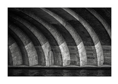 Bridge over Spree, Berlin (K.Pihl) Tags: olympusom1 rodinal1100 berlin bridge monochrome analog pellicolaanalogica zuiko50mmf14 standdevelopment blackwhite schwarzweiss bw spree film ilfordfp4400