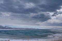 North Beach Cove (walkerross42) Tags: ice winter cove bearlake statepark water lake northbeach stcharles idaho clouds hills storm