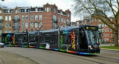 Bunq Boom (Peter ( phonepics only) Eijkman) Tags: amsterdam city combino colorbino gvb tram transport trams tramtracks trolley rail rails strassenbahn streetcars nederland netherlands nederlandse noordholland holland