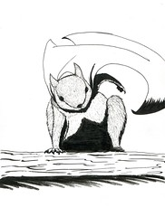 sc0815 (BoshJeckArt) Tags: drawing sketch traditional squirrel animal cape pen