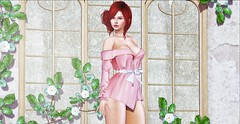♚ #847 ♚ (Caity Saint) Tags: insomnia dress truth redhead genus maitreya backdrop sl secondlife pixels avatar doll 3d