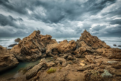 The Angry Rocks (Sebastian Witkin) Tags: longexposure lanscape beach sunset travel nature olga israel hadera waves sea