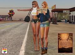 Runaways (Brandy Madison) Tags: edenlennie runaways hitchhiking friends sl secondlife transgender transgendermodel model sexy fashion style beauty glamour femmefatale pretty feminine girl woman hairstyles highheels lgbt tgirl diversity gender pride