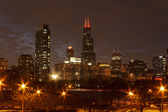 (jfre81) Tags: chicago downtown loop skyline cityscape landscape sears willis tower 311 west wacker franklin center skyscraper 312 windy second city urban james fremont photography jfre81 canon rebel xs eos