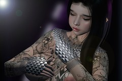 188.  Purple Heart (rednessv) Tags: theforge scale collar hand guards silver redeux event tattoo juna betty