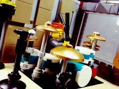 SpikeyBrick Studios (SpikeyBrick) Tags: lego moc drums drumkit studio music recording practice live room vignette drummer drumming musical