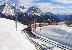 ABe 8/12 3501 / 15.02.20 (Schumny) Tags: abe 812 3501 rhb rhätische bahn eisenbahn schmalspurbahn schmalspur berge bahnhof alpen alps swiss switzerland schweiz alp grüm grum gruem puschlav ospizio bernina berninabahn pass mountains landschaft landscape capture view photography photo