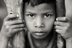 India, tribal boy in Odisha (Dietmar Temps) Tags: asia asian streetportrait blackandwhite koraput odisha orissa culture ethnic ethnicity faces india indian child boy people person poor portrait poverty rural traditional tribe village young