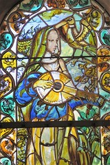 Reims, Stained glass in Notre-Dame-de-la-Paix - Foujita chapel (Sokleine) Tags: vitrail stainedglass chapel chapelle foujita heritage patrimoine monument monumenthistorique reims 51000 champagneardennes marne france