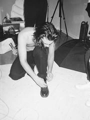 hood (nnrthbn) Tags: film 35mm boy male black white photography bnw model style ilford pan 400 hp5 kodak