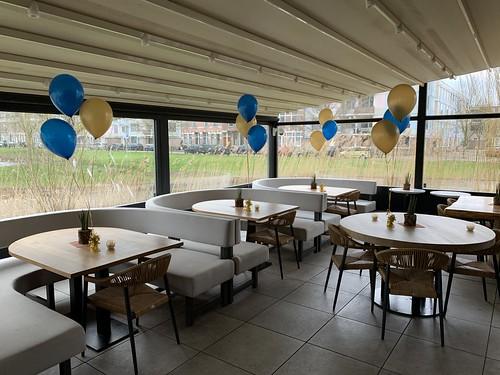 Tafeldecoratie 3ballonnen Finca Rotterdam