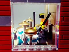 SpikeyBrick Studios (SpikeyBrick) Tags: lego moc drumkit drumming live room rehearsal practice music musical recording studio vignette drummer drums