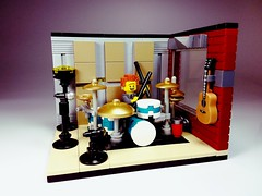 SpikeyBrick Studios (SpikeyBrick) Tags: lego moc drums drummer drumkit drum studio live room vignette practice musical music rehearsal recording