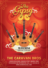 Gipsy Guitare Music Concert Flyer Template (n2n44.studio) Tags: artist colorful concert event festival flyer gipsy gray guitar live music musician poster grayguitar gitano itinerant string travel eve evening
