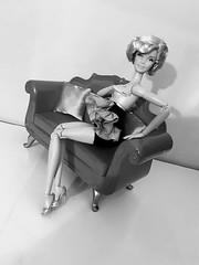 Darla Hayworth (xbirthxbyxsleepx) Tags: hoolywood premier barbie doll collector marilyn ooak fashion ruffled dress film noir golden era tinsel town