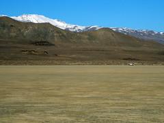 Looking back at camp (simonov) Tags: blackrockdesert playa car camping mountains snow